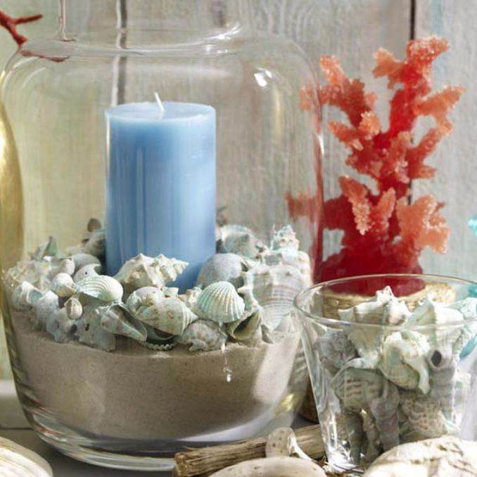 Holiday Romance In Miniature Summer Candle Centerpiece Ideas (9)