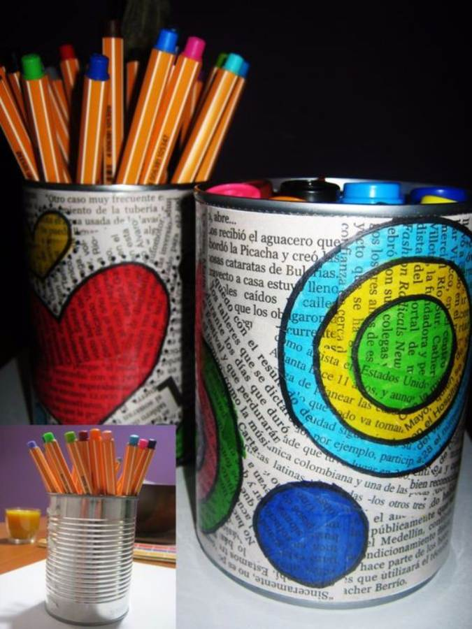 DIY pencil holder ideas for your home desk decoration (16)