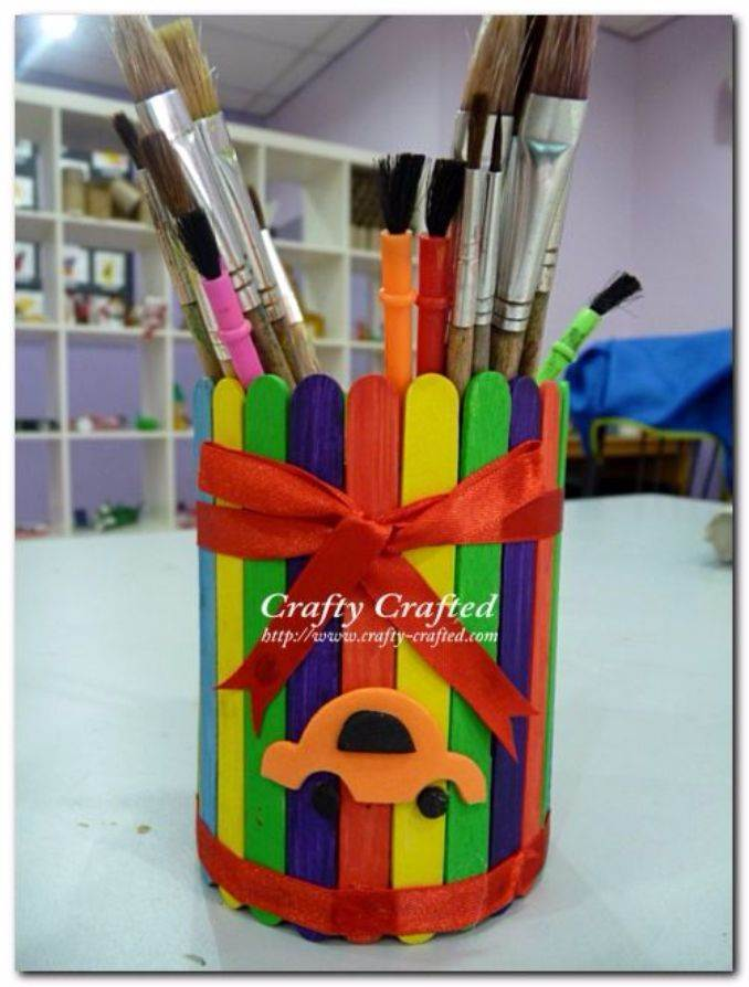 DIY pencil holder ideas for your home desk decoration (17)