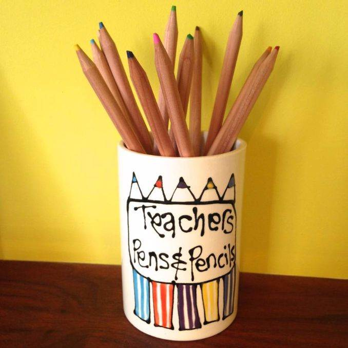 DIY pencil holder ideas for your home desk decoration (28)