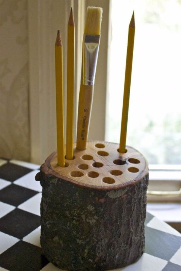 DIY pencil holder ideas for your home desk decoration (33)