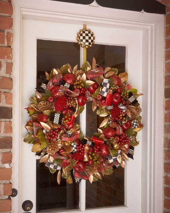 cool diy decorating ideas for christmas front porch_22