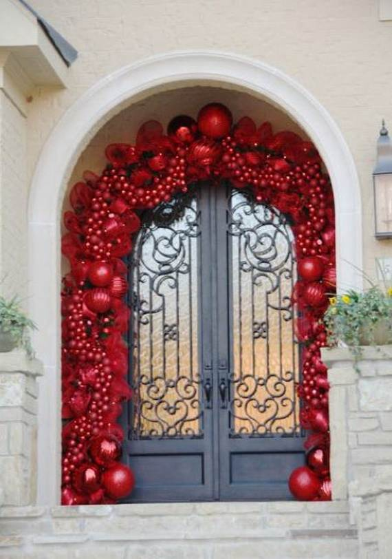cool diy decorating ideas for christmas front porch_29