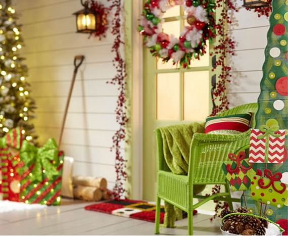 cool diy decorating ideas for christmas front porch_41