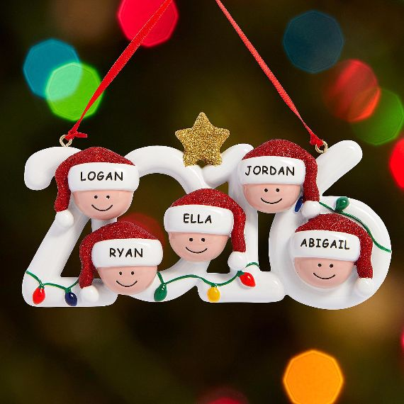 personalized modern family christmas decoration