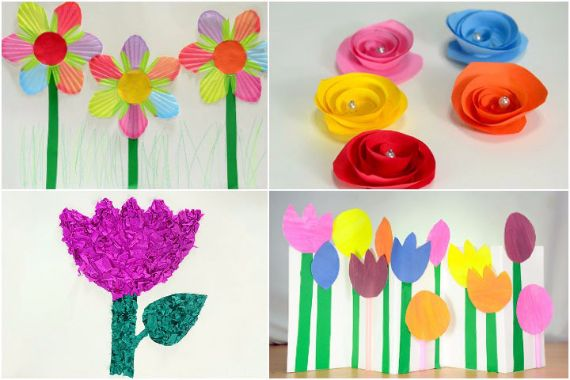 How To Make Flower Basket With Chart Paper : Spring craft ideas easy fun crafts and projects