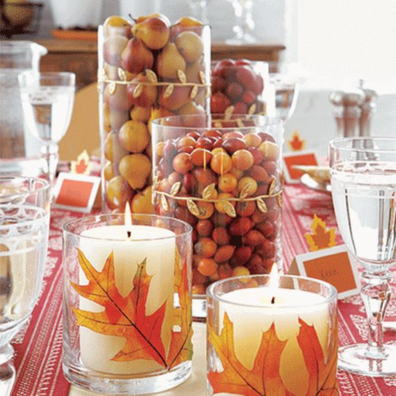 a contemporary thanksgiving table setting decor and centerpiece - Thanksgiving Table Setting Ideas Easy