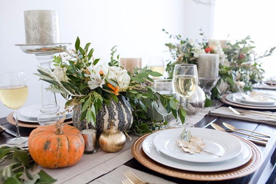 kinds of thanksgiving table settings and table decorations - Thanksgiving Table Setting Ideas Easy