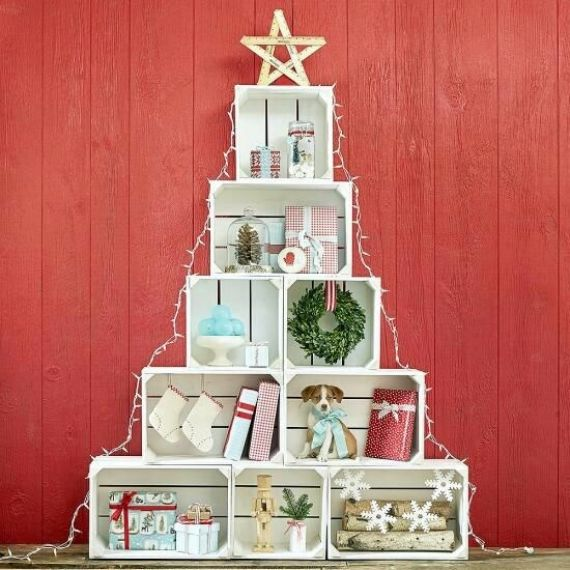 Recycled Christmas Decorations Diy Wooden Boxes Family Holiday