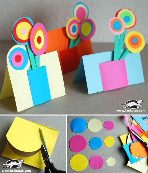 How To Make Paper Craft Ideas With PAPER CIRCLES For Children