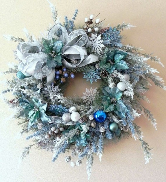 "Festive Holiday Wreath ""Blue Christmas"""