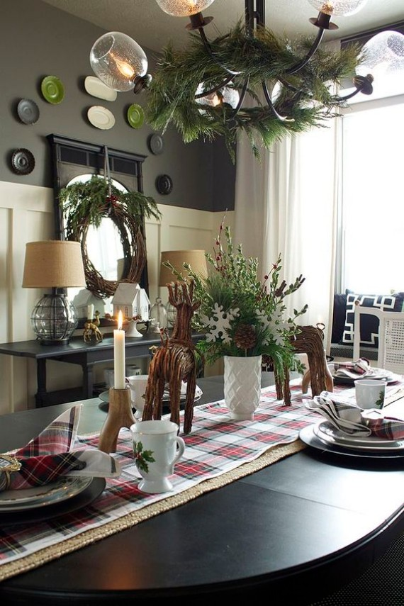 Christmas dining rooms arrangements