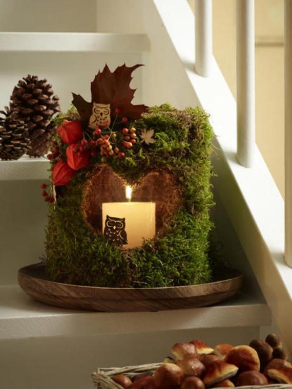 DIY Moss Christmas Lanterns Decoration