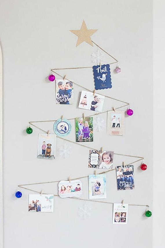 DIY Wall Christmas card Tree