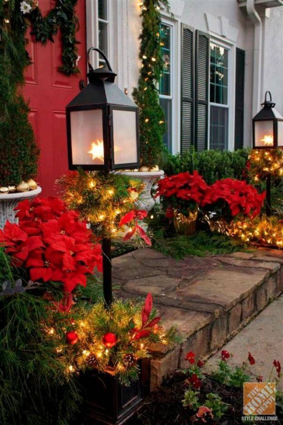 in the autumn decoration with candle lights and lanterns adorn this minimalistic and beautiful front porch and reveal them in beautiful shapes and colors