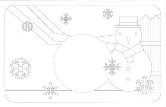 A color-in table Printable Christmas
