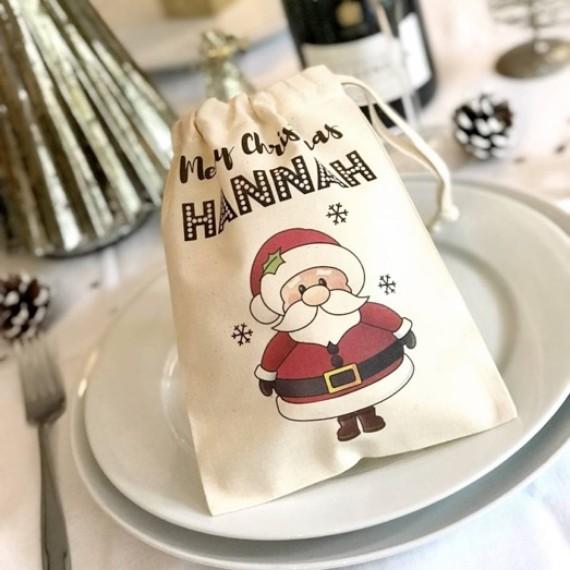 Mini Santa Christmas Sack