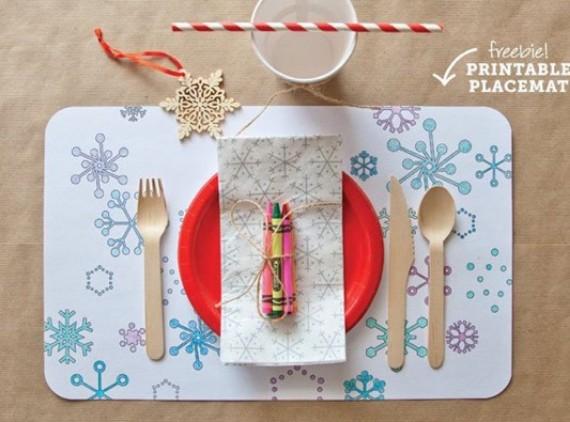 Printable Christmas Place Mat