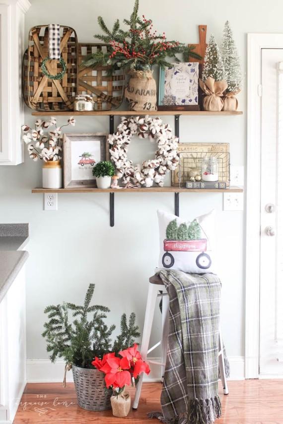 Kitchen Shelf Christmas Decoration