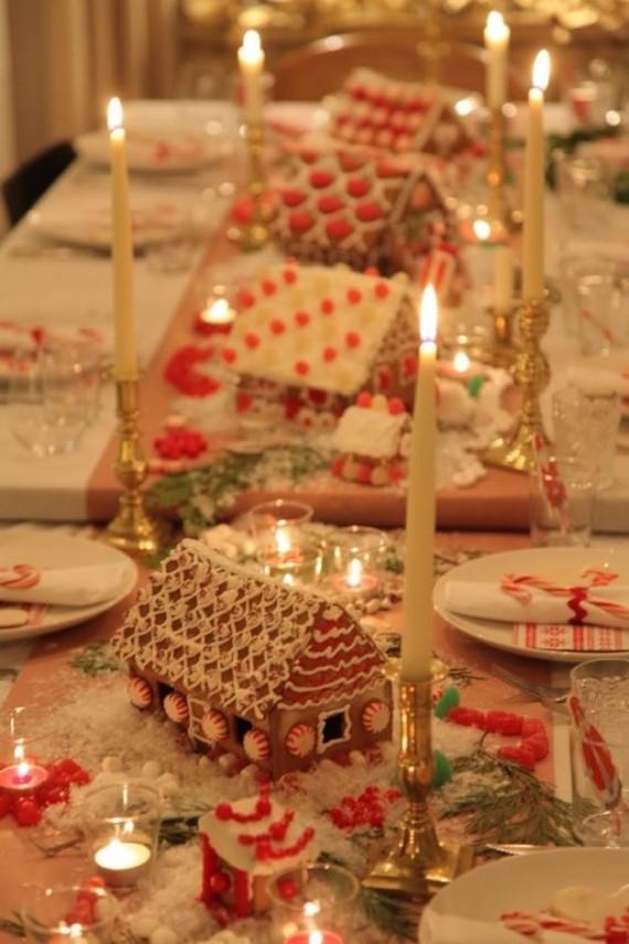 gngerbread house Christmas Tablescape