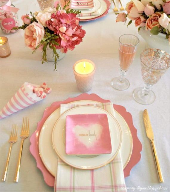 CHIC VALENTINE'S DAY TABLE FOR VALENTINE'S DAY