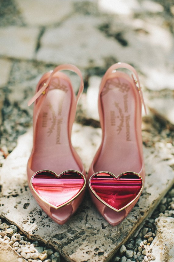 jeweled heels for valentine weddings