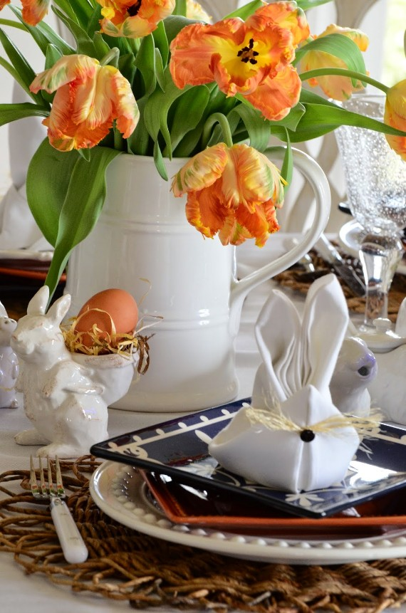 too-cute bunny napkins for your Easter table