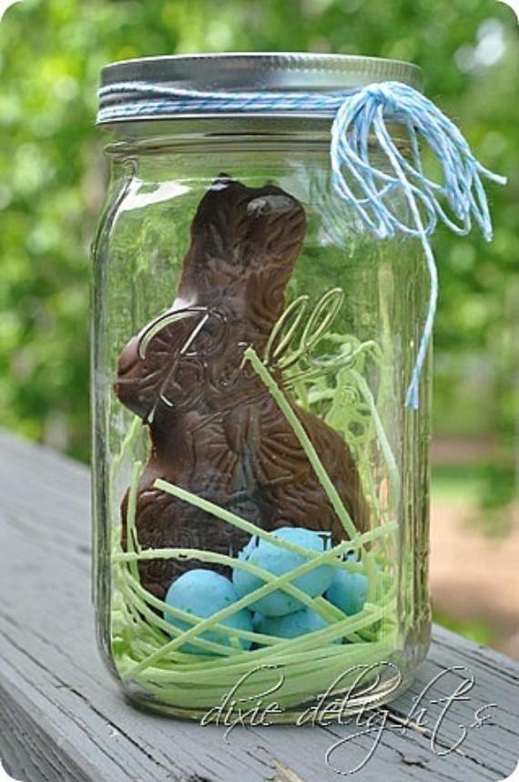 Chocolate Bunny in a Jar