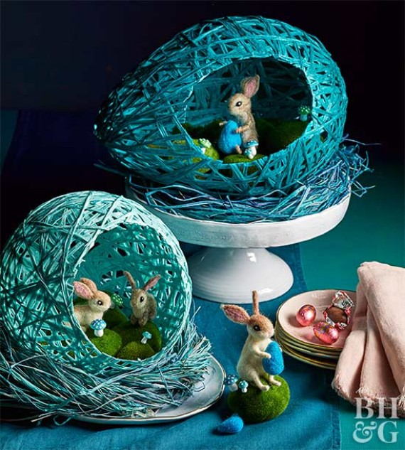 DIY Wrapped Easter Eggs