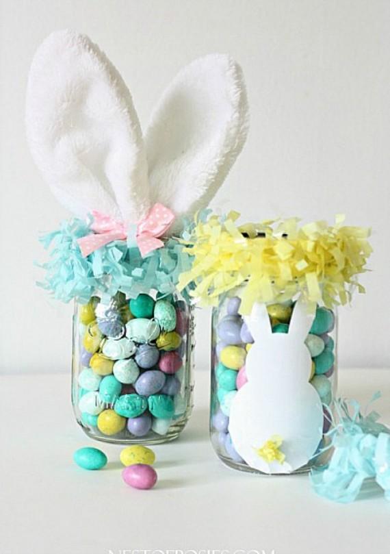 Easter Bunny and Fringe Jar