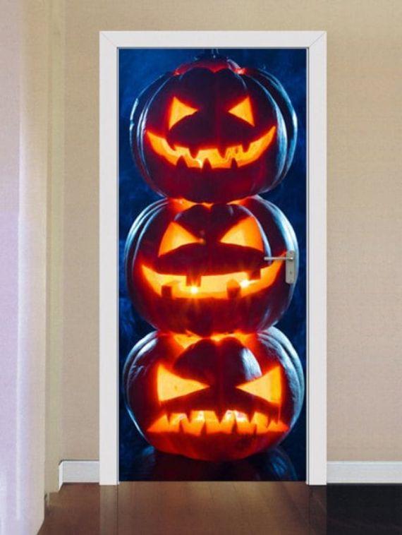 Halloween-Pumpkins-Print-Door-Stickers