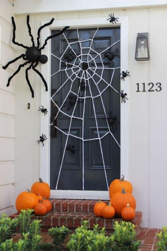 Spider web door decor