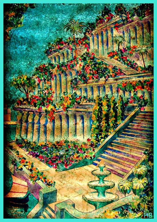 Hanging Gardens of Babylon Ancient Wonder (3)