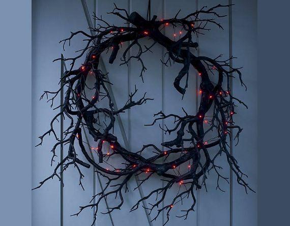 Black Halloween Wreaths (1)