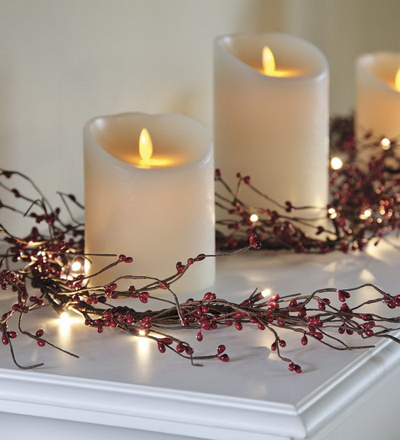 Cool Christmas Holiday Candles Decoration Ideas_10