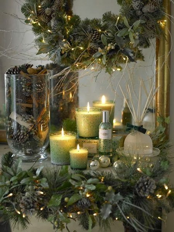 Cool Christmas Holiday Candles Decoration Ideas_13