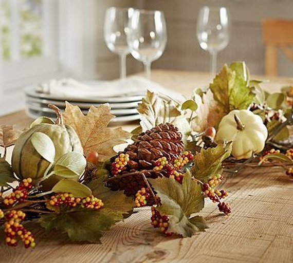 Elegant Table Decorations For Thanksgiving Holiday_08