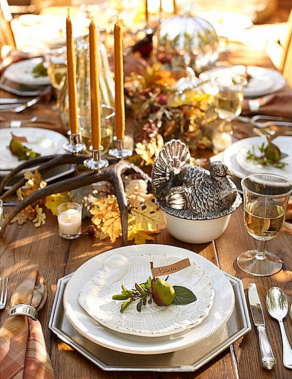 Elegant Table Decorations For Thanksgiving Holiday_14