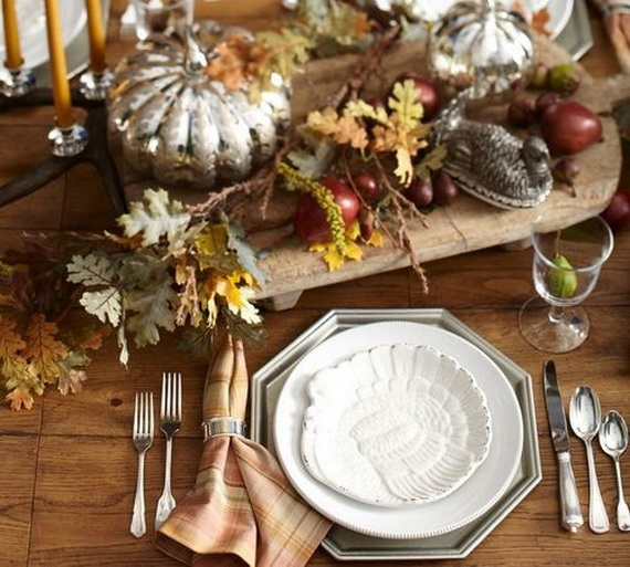 Elegant Table Decorations For Thanksgiving Holiday_20