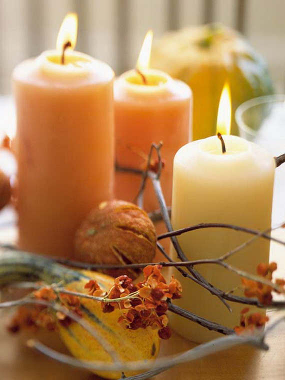 Exquisite  Candles  for Elegant Thanksgiving   Holiday_18