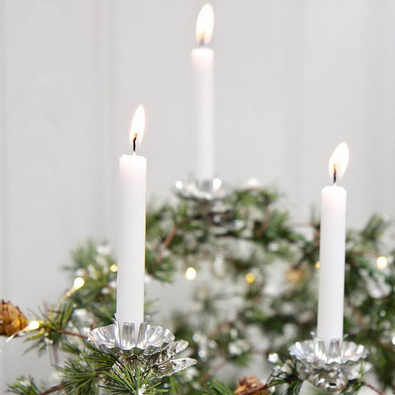 Holiday Decorating Ideas with Christmas Tree Candles_34