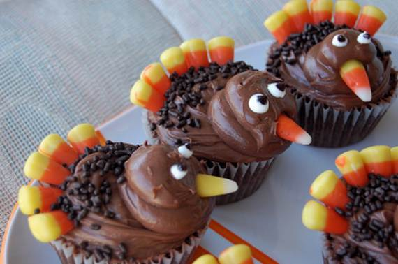 Ideas for Thanksgiving Holiday Cupcake Decorating