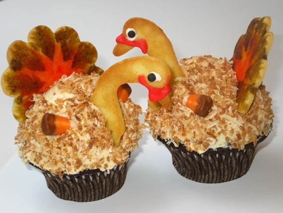 Ideas for Thanksgiving Holiday Cupcake Decorating (9)