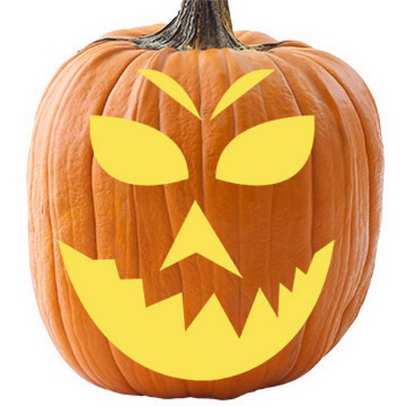 Fun halloween holiday with pumpkin carving family