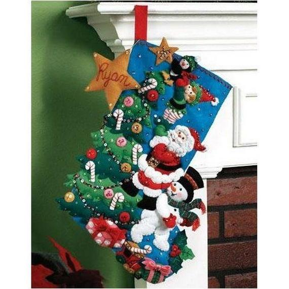 Elegant  Christmas Stocking_16
