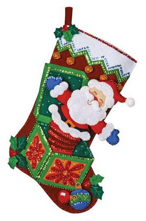 Elegant  Christmas Stocking_17