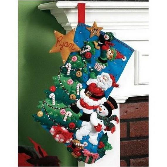 Elegant  Christmas Stocking_35