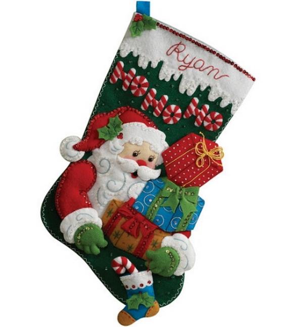 Elegant  Christmas Stocking_37