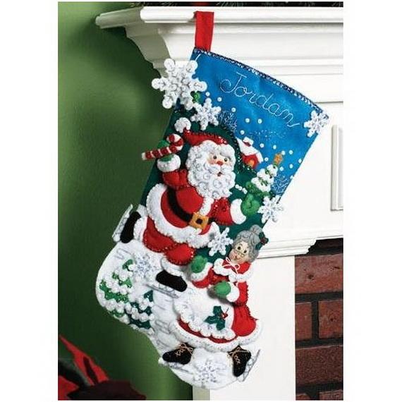 Elegant  Christmas Stocking_42