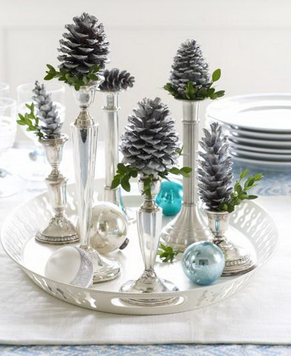 Fresh Pine Centerpiece For Holiday__03
